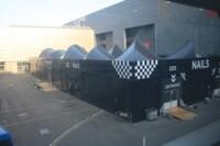Struttura installata come perimetro di un padiglione al Cosmoprof 2012