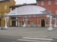 Teli di copertura trasparente, zavorre e teli di giro finestrati